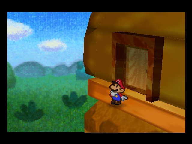 Paper Mario - Cut-Scene  - hmm...wasnt there a balcony here before? - User Screenshot